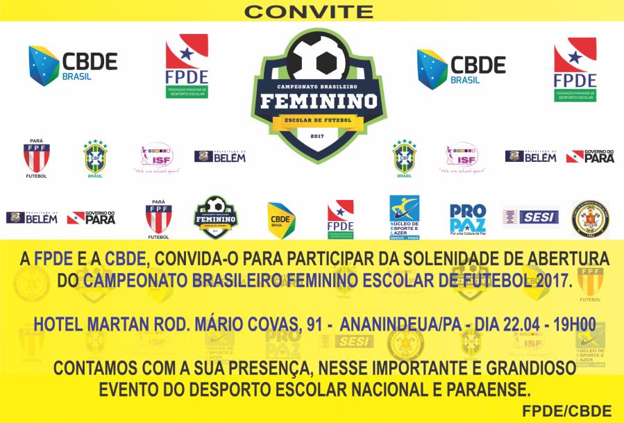 CONVITE FPDE FUTEBOL FEMININO